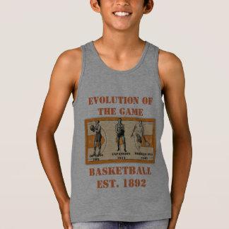 Evolution of the Game--Basketball Tank Top