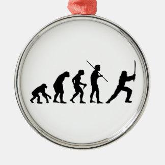 Evolution of the Ninja - from Man to Ninja Christmas Ornament