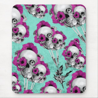 Evolution of the poppy, skull pattern. mouse pad