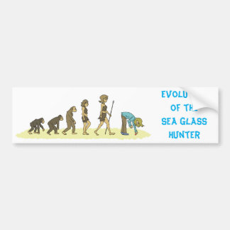Evolution of the Sea Glass Hunter Bumper Sticker