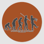 Evolution of the Zombie Round Stickers