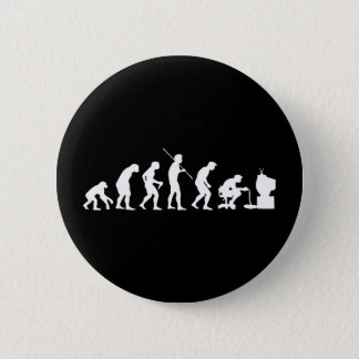 Evolution of Video Games Gaming Gamer 6 Cm Round Badge