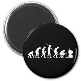 Evolution of Video Games Gaming Gamer 6 Cm Round Magnet