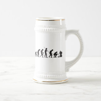 Evolution of Video Games Gaming Gamer Beer Steins