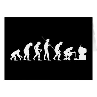Evolution of Video Games Gaming Gamer Greeting Card
