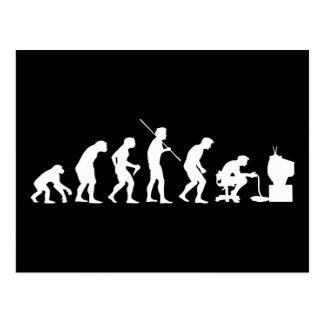 Evolution of Video Games Gaming Gamer Postcard