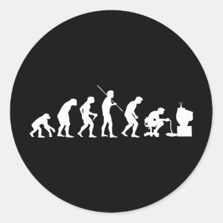 Evolution of Video Games Gaming Gamer Round Sticker