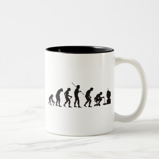 Evolution of Video Games Gaming Gamer Two-Tone Coffee