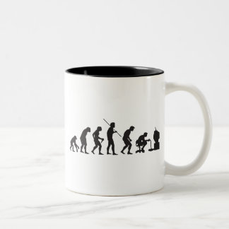 Evolution of Video Games Gaming Gamer Two-Tone Mug
