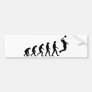 Evolution of Volleyball Bumper Sticker