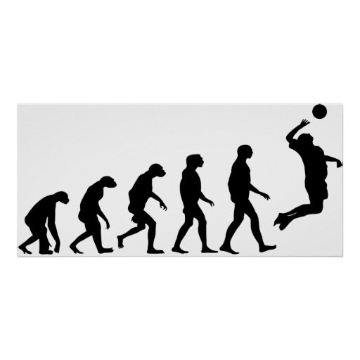 Evolution of Volleyball Poster