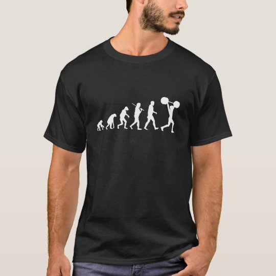 Evolution of Weight lifting T-Shirt