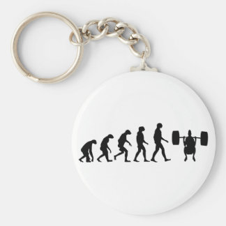 Evolution of Weightlifting Key Ring