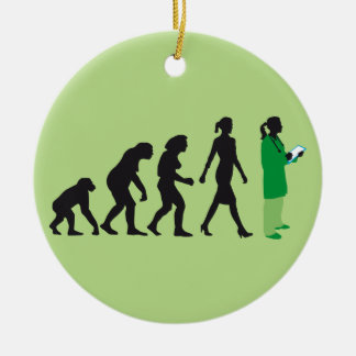 evolution OF woman female doctor Christmas Ornament