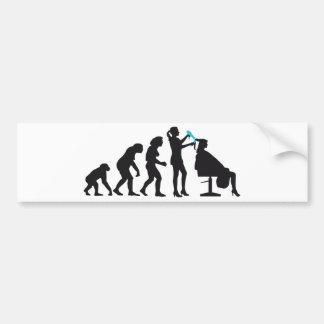 evolution OF woman female more hairdresser Car Bumper Sticker