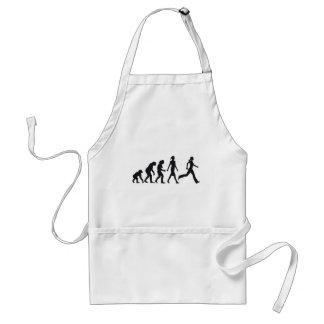evolution OF woman jogging Aprons