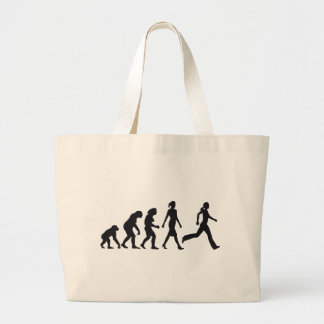 evolution OF woman jogging Tote Bags