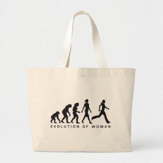 evolution OF woman jogging Tote Bag