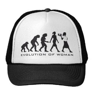 Evolution OF woman waitress Cap