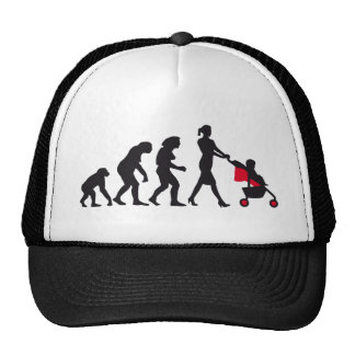 evolution OF woman with baby Cap