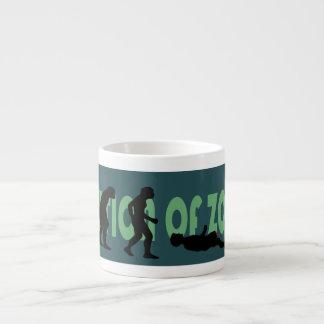 Evolution of Zombie Aqua Espresso Mug