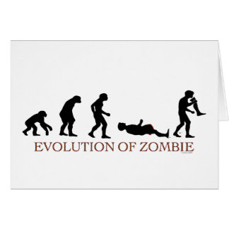 Evolution of Zombie Greeting Card