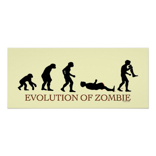Evolution of Zombie Poster