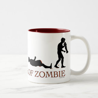 Evolution of Zombie Two-Tone Coffee Mug