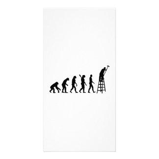 Evolution Painter Customized Photo Card