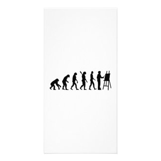 Evolution Painter Photo Greeting Card