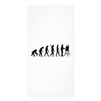 Evolution Painter Photo Greeting Card