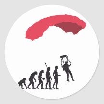 evolution Parachute Stickers