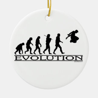 Evolution Parkour Christmas Ornament
