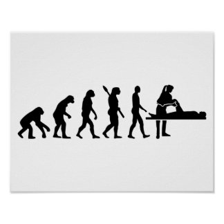 Evolution physiotherapist poster