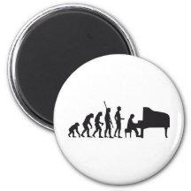evolution piano 6 cm round magnet