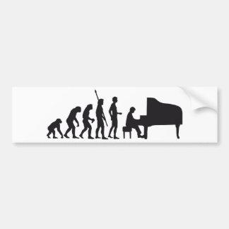 evolution piano bumper sticker