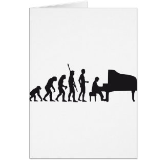 evolution piano greeting card