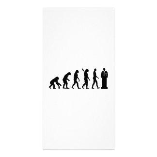 Evolution Politician Picture Card