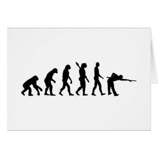 Evolution Pool billiards Greeting Card
