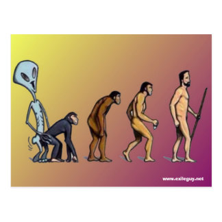 evolution postcard