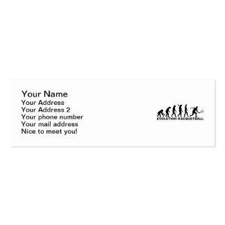 Evolution Racquetball Pack Of Skinny Business Cards