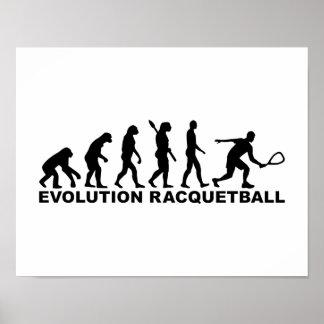Evolution Racquetball Poster