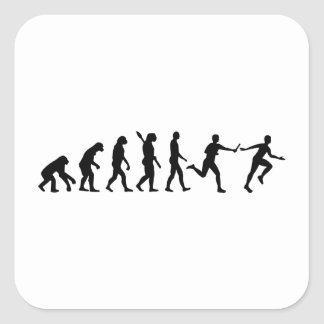 Evolution Relay race Stickers