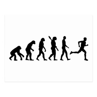 Evolution running marathon postcard