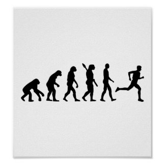 Evolution running marathon poster