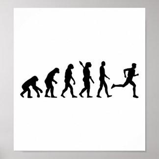 Evolution running marathon print