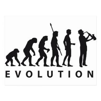 evolution saxophon postkarte