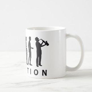 evolution saxophone coffee mug