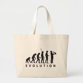 evolution saxophone large tote bag
