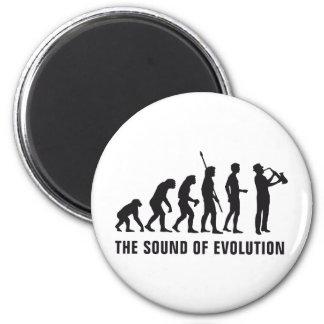 Evolution saxophone magnet